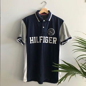 Vintage Tommy Hilfiger Blue & Grey Polo